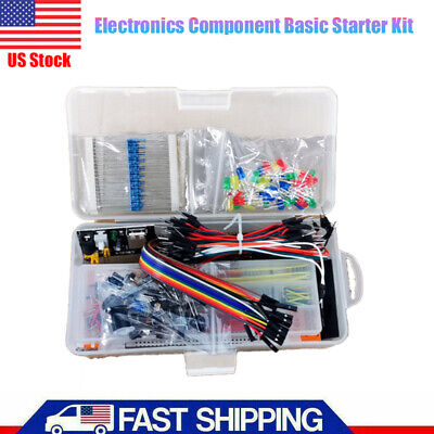 New Us Electronics Component Basic Starter Set W830 Tie-points Breadboard Cable