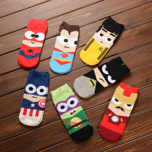 7 Paare Marvel Comics Superhero Avengers Cartoon Socken für Herren Damen Socks