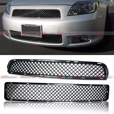 (Front Upper and Lower Mesh Black ABS Hood Grille Grill fits for 05-10 Scion tC)