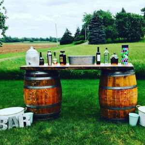 Wine or Whiskey Barrels for Rent