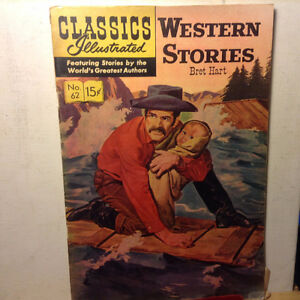 Classics Illustrated 62 Western Stories Bret Hart 1968 HRN 137