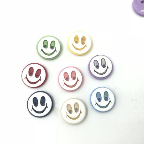 Runde Smiley-Sterne Mischfarbe Nähen Scrapbooking Harz Knopf//Knöpfe 14mm