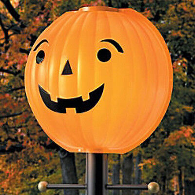 Jacko Lantern Lamppost Halloween Pumpkin Outdoor Lampshade Cover Lamplighter](Halloween Pumpkin Lamp Post Cover)