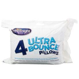 Silentnight 4x Ultra Bounce Pillows Brand New
