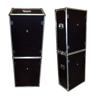Photo Booth Set  - 2 ATA Style Cases w/Wheels - 'Do It Yourself' Cutouts - Black - Photo Booth Do It Yourself