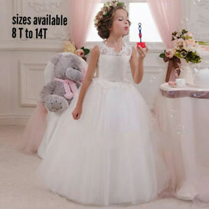 dresses for flower girl, baptism and communion confirmation