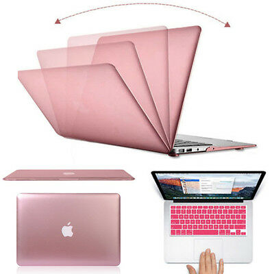 """Rose Gold Metallic Hard Case Cover Shell for Macbook Air Pro Retina 11 12 13 15"""""""