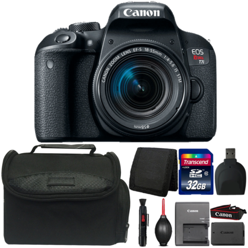 Canon EOS Rebel T7i DSLR Camera with 18-55mm IS STM Lens and Accessory Bundle