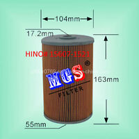 Hino oil filter 15607-1521 & KRALINATOR L39 FILTER