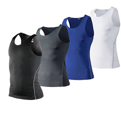 - Men's Compression Workout Vests  Gym Tank Tops Basketball Running Sportswear Tee