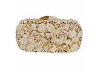 Luxury crystal clutch evening bag