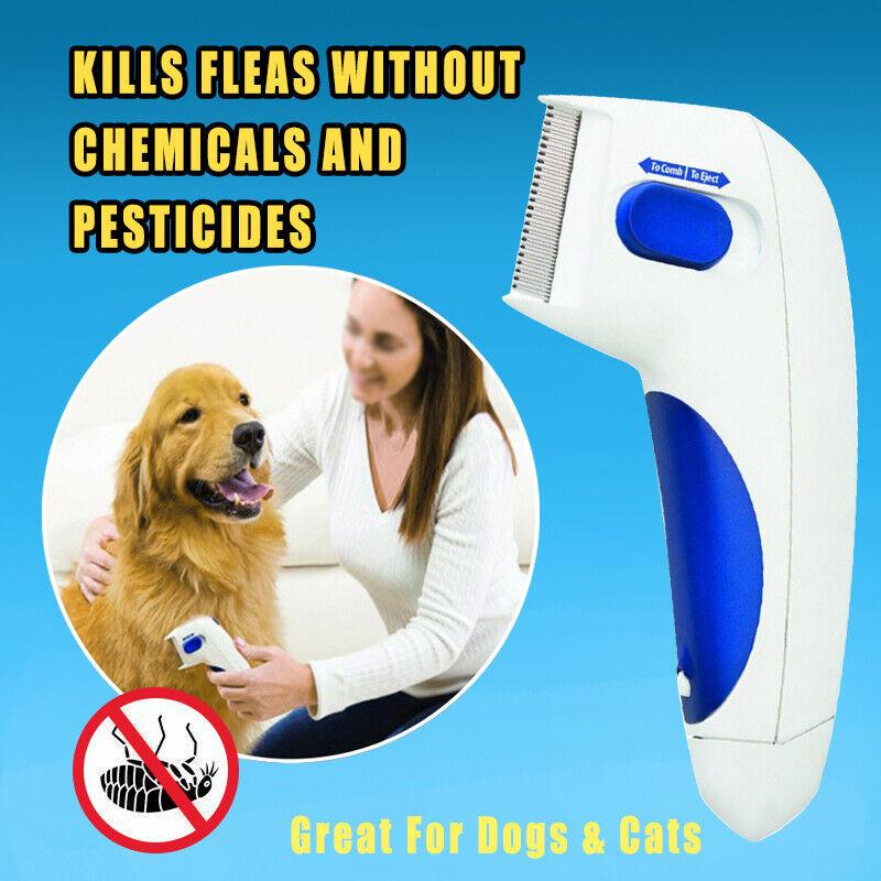 Flea Doctor Comb Electric Dog Cat Pets Anti Flea Head Lice Remover Control Brush