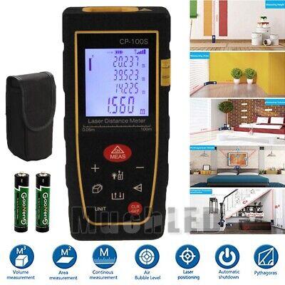 330ft Lcd Digital Laser Distance Meter Range Finder Handheld Measure Diastimeter