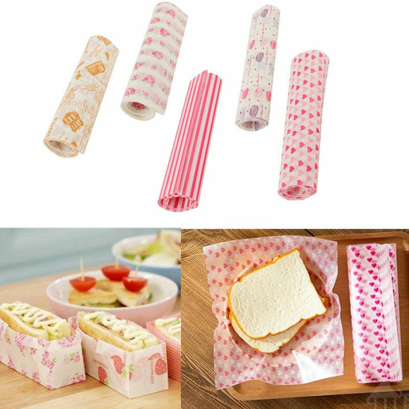 50Pcs Wax Paper Disposable Food Wrapping Greaseproof Paper Soap Packaging Paper