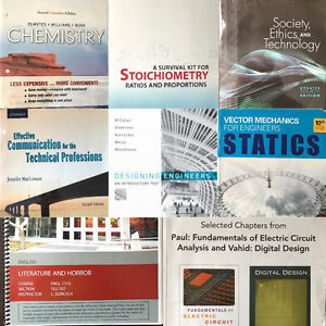 Various UofM Textbooks for Sale for Engineering Math Chemistry