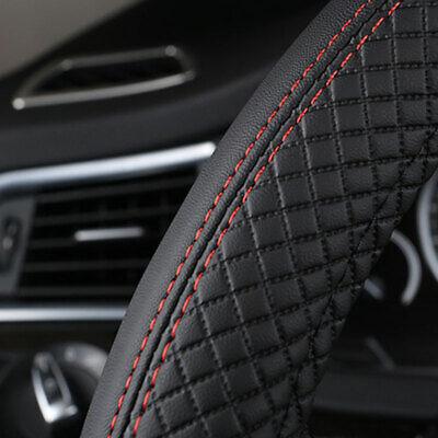 Usado, Black 38cm Car Steering Wheel Cover Leather Universal Anti-Slip Sport styling segunda mano  Embacar hacia Spain