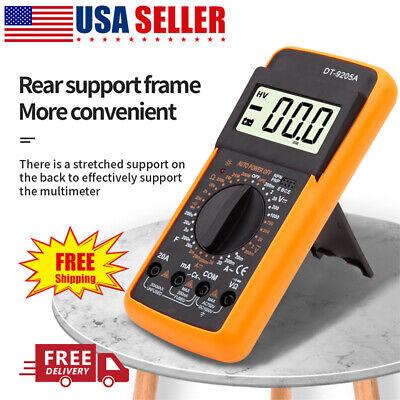Lcd Digital Voltmeter Ammeter Ohmmeter Multimeter Volt Ac Dc Tester Meter New