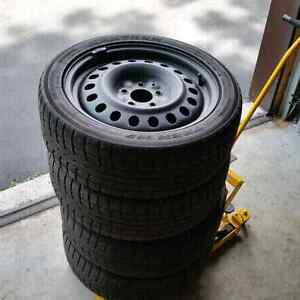 Winter tires 114.3x5 with steel wheels