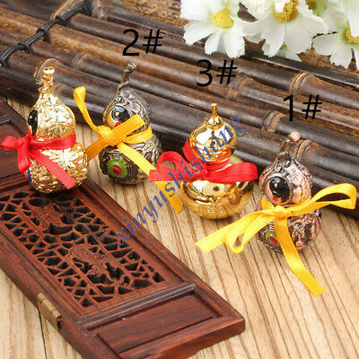 Good Luck Gourd Natural Brass Feng Shui Wu Lou Luo Lu Health Enhance for sale  China