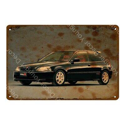 Honda Civic Type-R Metal Poster Car Garage Decoration Tin Sign 8 x 12in