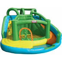 RENT-Bouncy Castle/ Bouncy House:Curved Slide to ballpit- RENTAL