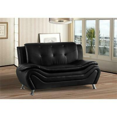 Kingway Furniture Gilan Faux Leather Living Room Loveseat -
