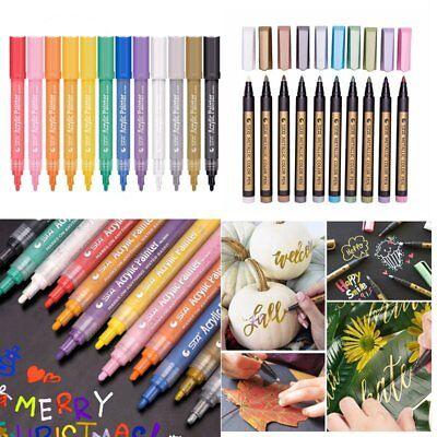 Acrylic Paint Markers Pens Set   Fine Tip Art Permanent Paints Pens For Rock Pai