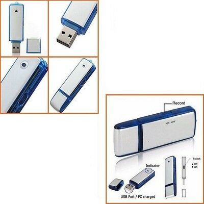 PEN DRIVE REGISTRATORE VOCALE USB 8GB MINI AUDIO RECORDER MICROSPIA SPY CIMICE