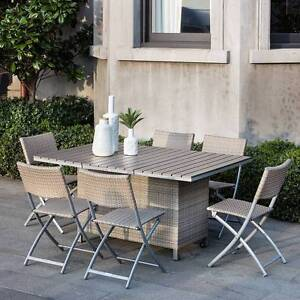 Outdoor Living Barletta Balcony 7 Piece Folding Dining Set Mount Waverley Monash Area Preview