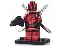 Deadpool Red Chromed custom mini-figure