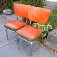 6 chaises vintage retro