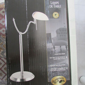 NEW Nickel Finish Table Lamp