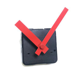 Silent Wall Clock Movement Mechanism Home DIY Repair Tool Kits with Red Hands