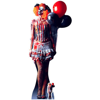 SCARY FEMALE CLOWN Lifesize CARDBOARD CUTOUT Standee Standup Poster FREE SHIP