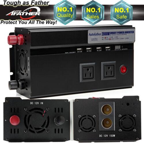 2000/4000WATT DC 12V-AC 110V Automotive Car Power Inverter U