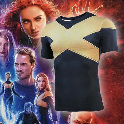 X-Men: Dark Phoenix Cosplay T-shirts Halloween Costume Summer Quick Dry Tops Tee - Quick Halloween Costumes For Men