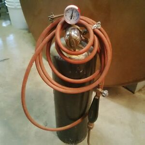 Acetylene B tank and torch