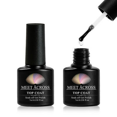 - MEET ACROSS Top Base Coat Gel Polish Long-lasting Soak Off UV LED Cured Nail 7ml