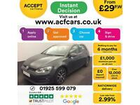 2014 GREY VW GOLF 2.0 TDI 150 MATCH DIESEL MANUAL 5DR HATCH CAR FINANCE FR £29PW
