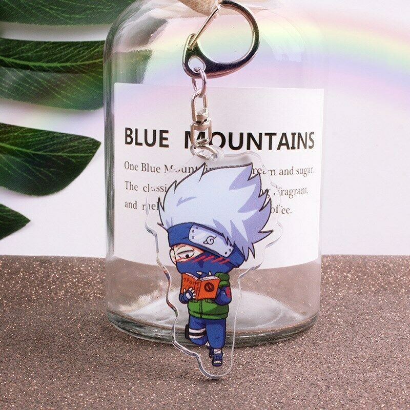 Naruto Hatake Kakashi acrylic Keychain Key Ring Two faces Bag Ornament Keyring