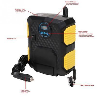 Digital Portátil Inflador de Neumáticos Dc 12V Coche Eléctrico Compresor Aire