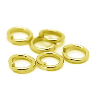 100 Verbindungsringe, Biegeringe, Binderinge 6 mm gold (0,04€/1Stk)