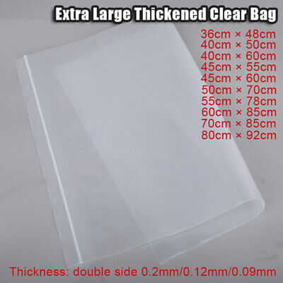 10pcs Extra Large Thickened Clear Grip Seal Bags With Zip Lock Self Resealable