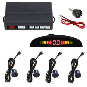 4-Parking-Sensors-LED-Display-Car-Backup-Reverse-Radar-System-Kit-Sound-Alert