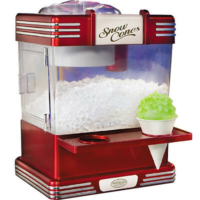 Nostalgia Retro Home Snow Cone Maker Mini Shaved Ice Compact Snowcone Machine