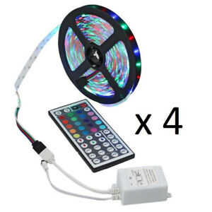 4 x Led Strips - 5M each - 4 Color Changing Remotes - 1 Plug