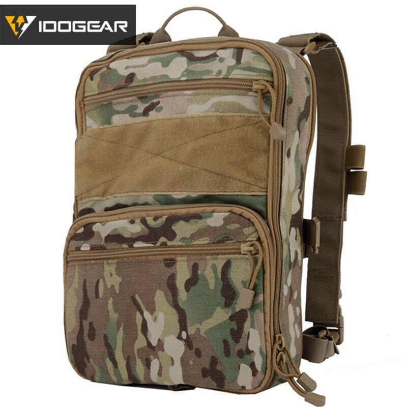 IDOGEAR 410 Flatpack Tactical Backpack Multi-purposed Rucksack MOLLE Duty Camo