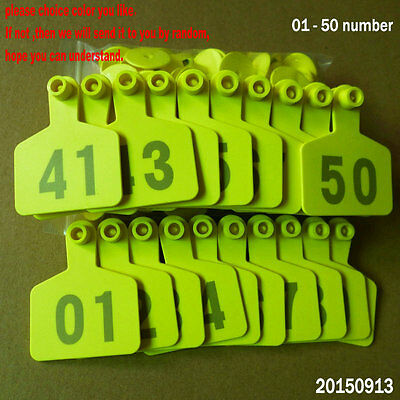 01  50 Number Animal Cattle Use Ear Tag Livestock Tags Labels Cattle Special