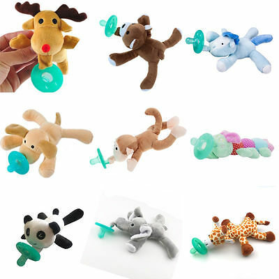Toddler Infant Baby Soothie Boy Girl Kids Silicone Pacifiers Cuddly Plush Animal](Toddler Animals)