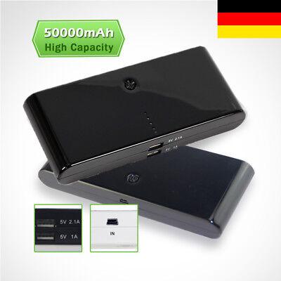 50000mAh Power Bank 2USB Zusatzakku Tragbar Batterie Ladegerät Für iPhone6 7